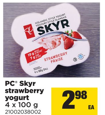 PC Skyr Strawberry Yogurt - 4 X 100 g