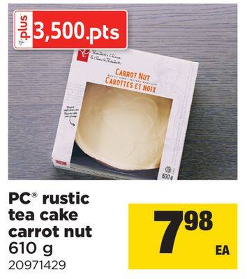 PC Rustic Tea Cake Carrot Nut - 610 g