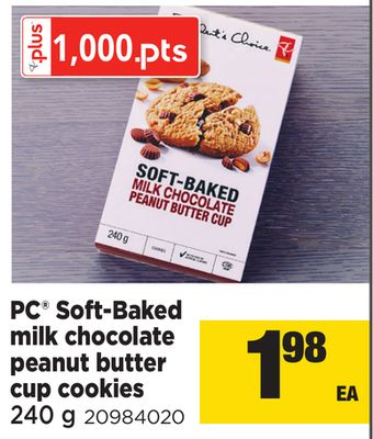 PC Soft-baked Milk Chocolate Peanut Butter Cup Cookies - 240 g