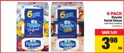 Royale Facial Tissue - 6 Pack