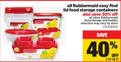 All Rubbermaid Easy Find Lid Food Storage Containers