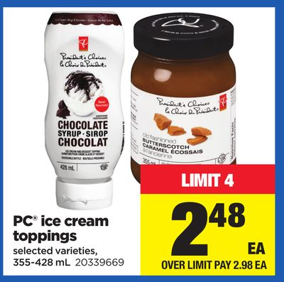 PC Ice Cream Toppings - 355-428 mL
