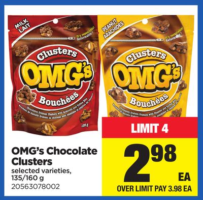 Omg's Chocolate Clusters - 135/160 g