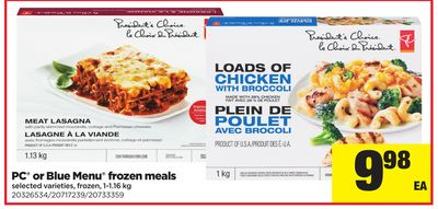 PC Or Blue Menu Frozen Meals - 1-1.16 Kg
