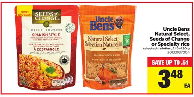 Uncle Bens Natural Select - Seeds Of Change Or Specialty Rice - 240-420 g