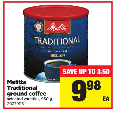Melitta Traditional Ground Coffee - 930 g