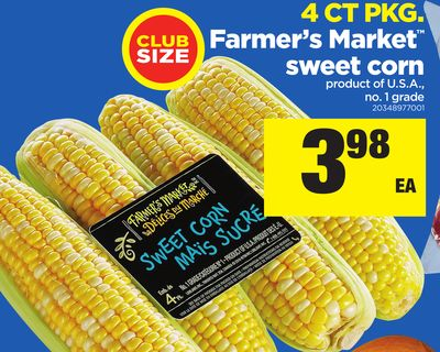 Farmer's Market Sweet Corn - 4 Ct Pkg
