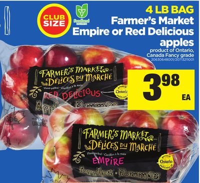 Farmer's Market Empire Or Red Delicious Apples - 4 Lb Bag