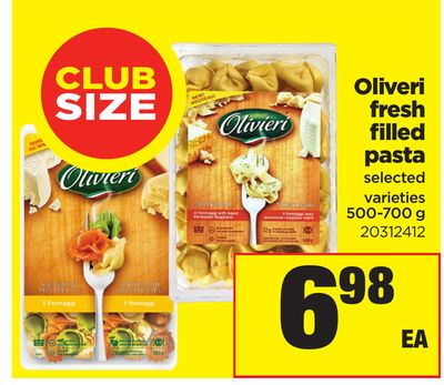Oliveri Fresh Filled Pasta - 500-700 g