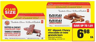 PC Dipped - Chewy Chocolate Or Mini Granola Bars - 745-930 g