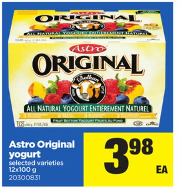 Astro Original Yogurt - 12x100 g