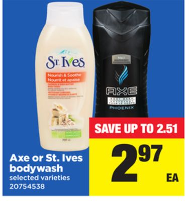Axe or St. Ives Bodywash