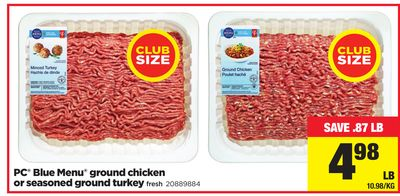 PC Blue Menu Ground Chicken Or Seasoned Ground Turkey