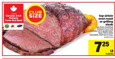 Top Sirloin Oven Roast Or Grilling Steak