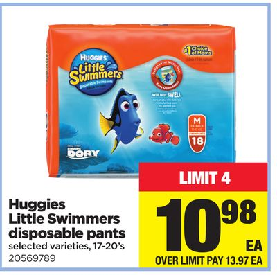 Huggies Little Swimmers Disposable Pants - 17-20's