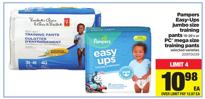 Pampers Easy-ups Jumbo Size Training Pants - 19-26's or PC Mega Size Training Pants