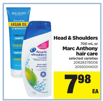 Head & Shoulders - 700 mL or Marc Anthony Hair Care