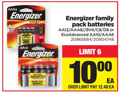 Energizer Family Pack Batteries