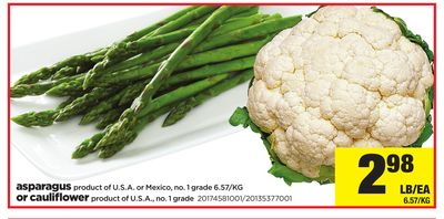 Asparagus Or Cauliflower