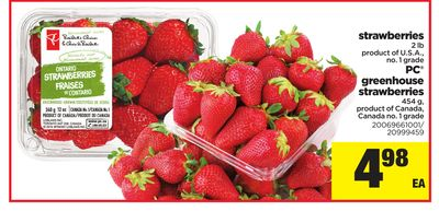 Strawberries - 2 Lb - PC Greenhouse Strawberries - 454 g