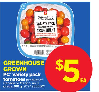 PC Variety Pack Tomatoes - 681 g