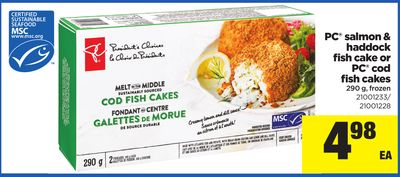 PC Salmon & Haddock Fish Cake Or PC Cod Fish Cakes - 290 g