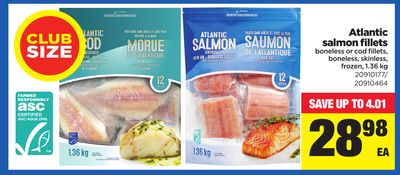 Atlantic Salmon Fillets - 1.36 Kg