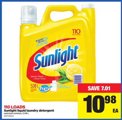 Sunlight Liquid Laundry Detergent - 5.08 L