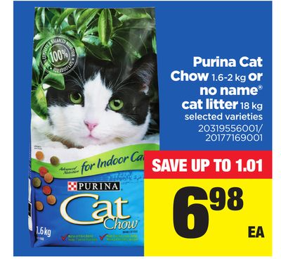 Purina Cat Chow - 1.6-2 Kg Or No Name Cat Litter - 18 Kg