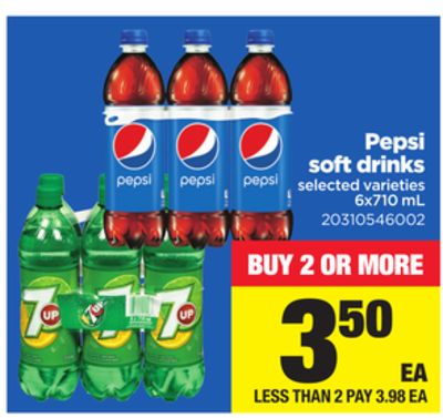 Pepsi Soft Drinks - 6x710 mL