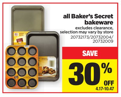 All Baker's Secret Bakeware