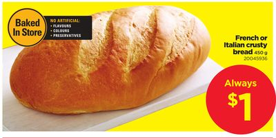 French Or Italian Crusty Bread - 450 g