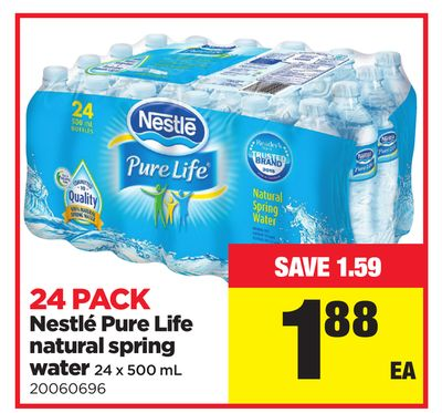 24 Pack Nestlé Pure Life Natural Spring Water