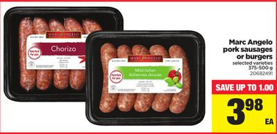 Marc Angelo Pork Sausages Or Burgers - 375-500 g