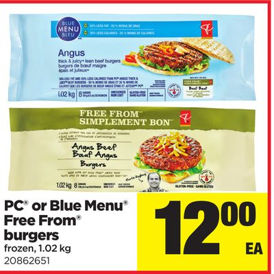 PC Or Blue Menu Free From Burgers - 1.02 Kg