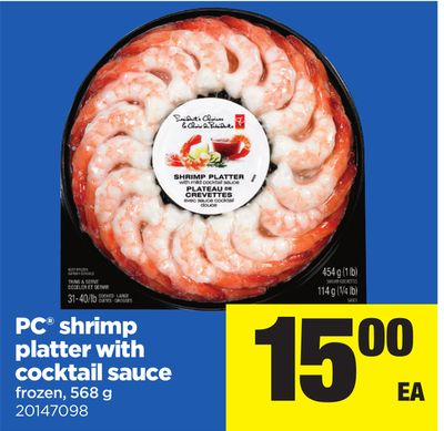 PC Shrimp Platter With Cocktail Sauce - 568 g