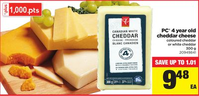 PC 4 Year Old Cheddar Cheese - 300 g