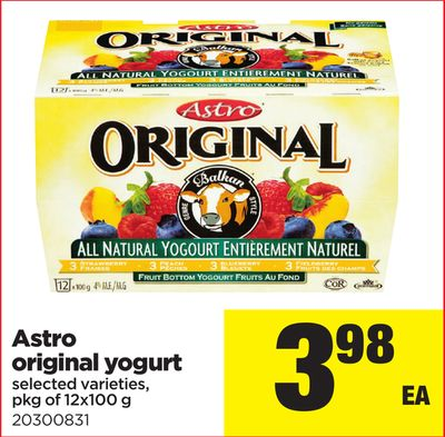 Astro Original Yogurt - Pkg Of 12x100 G