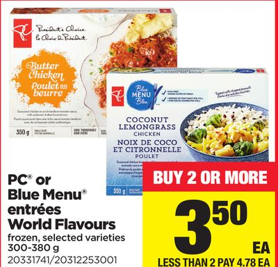 PC Or Blue Menu Entrées World Flavours - 300-380 g