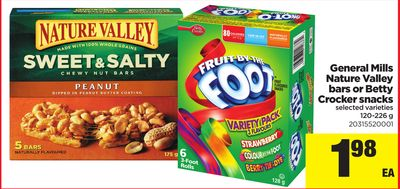 General Mills Nature Valley Bars Or Betty Crocker Snacks - 120-226 g
