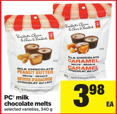 PC Milk Chocolate Melts - 340 G