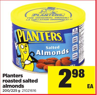 Planters Roasted Salted Almonds - 200/225 g