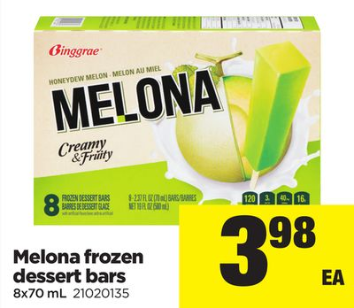 Melona Frozen Dessert Bars - 8x70 mL