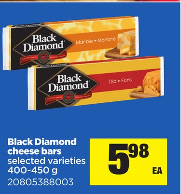 Black Diamond Cheese Bars - 400-450 g
