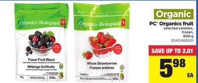 PC Organics Fruit - 600 g