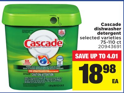 Cascade Dishwasher Detergent - 75-110 Ct