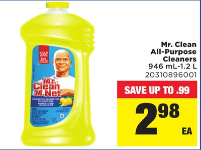 Mr. Clean All-purpose Cleaners 946 Ml-1.2 L