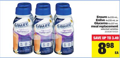 Ensure 6x235 Ml - Enlive 4x235 Ml Or Glucerna 6x237 Ml Meal Replacement