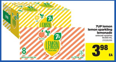 7up Lemon Lemon Sparkling Lemonade - 8x355 mL