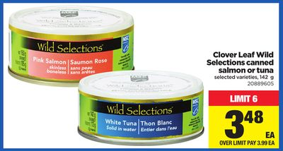 Clover Leaf Wild Selections Canned Salmon Or Tuna - 142 g
